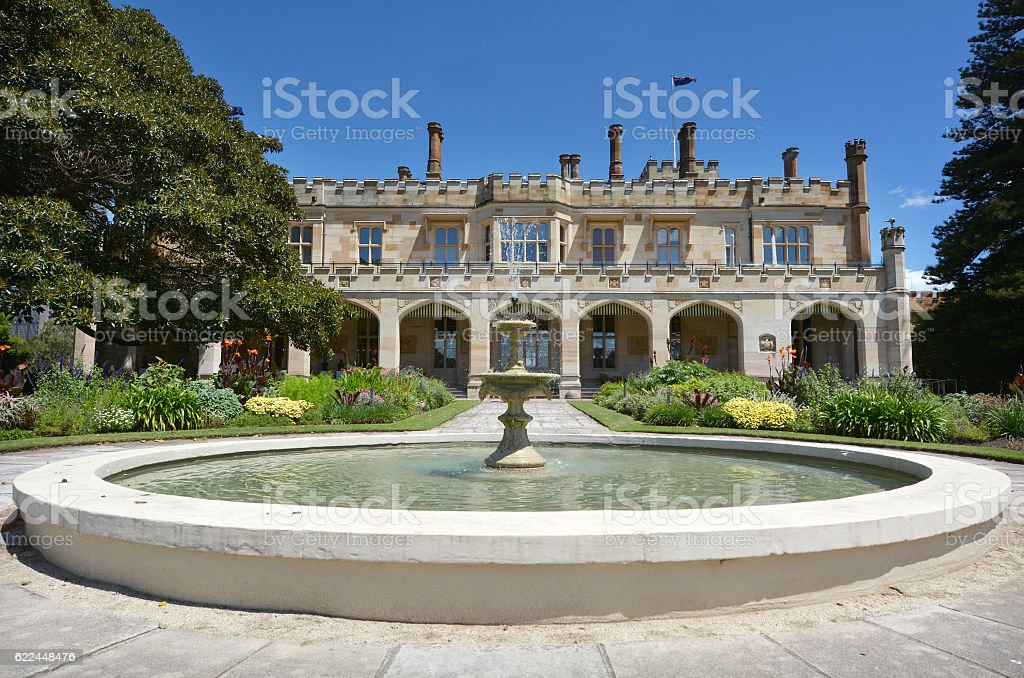 The Government House in Sydney Australia stock photo