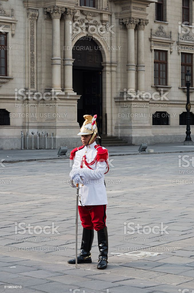 The Government Palace in Lima, Peru stock photo