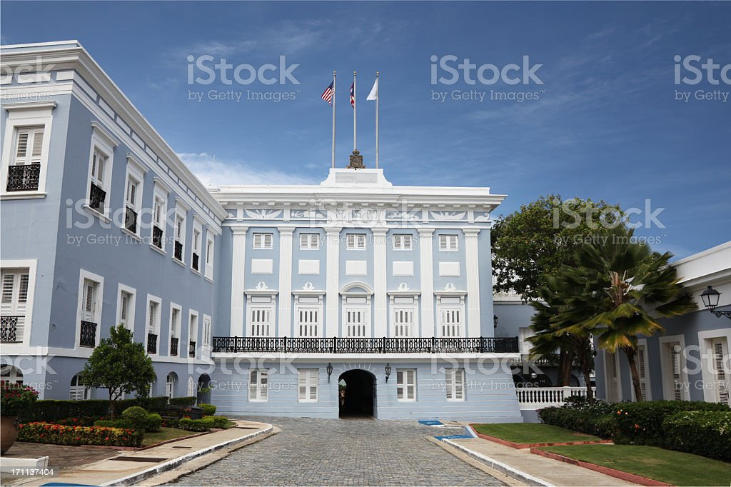 The Governor's Mansion in Puerto Rico royalty-free stock photo