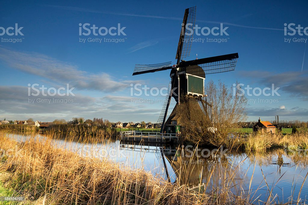 The Graaflandse windmill stock photo