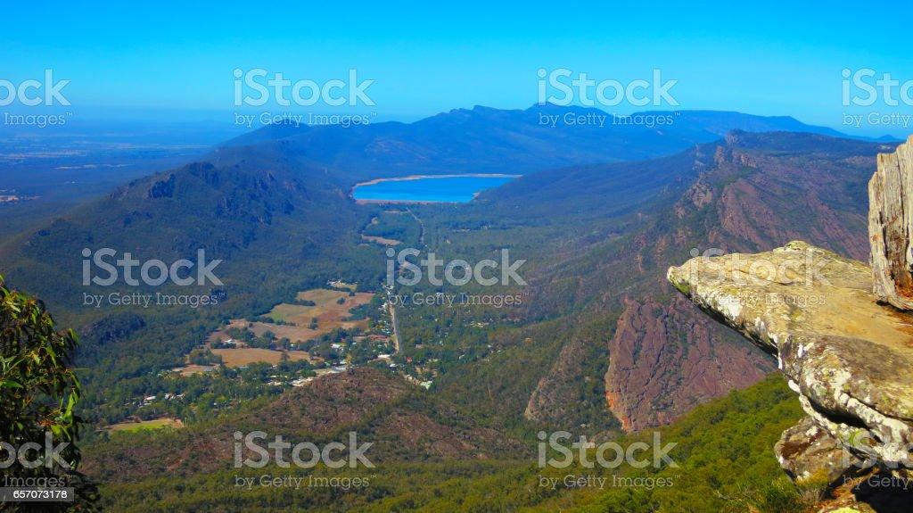 The Grampians National Park (Gariwerd), View from Boroka Lookout, Victoria, Australia stock photo