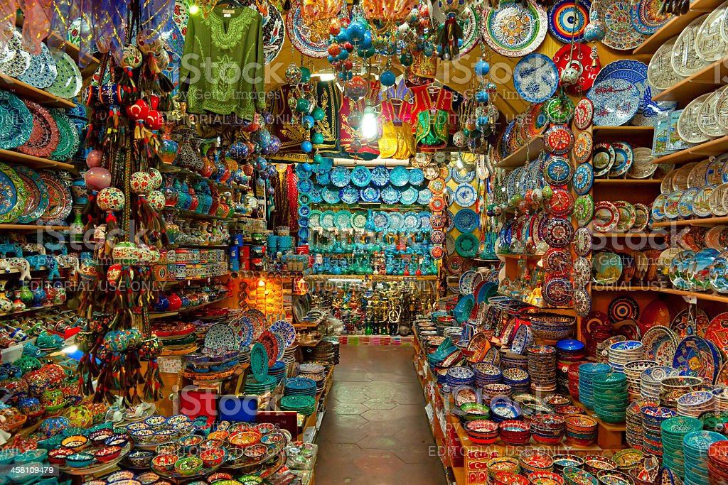 The Grand Bazaar in Istanbul, Turkey. stock photo