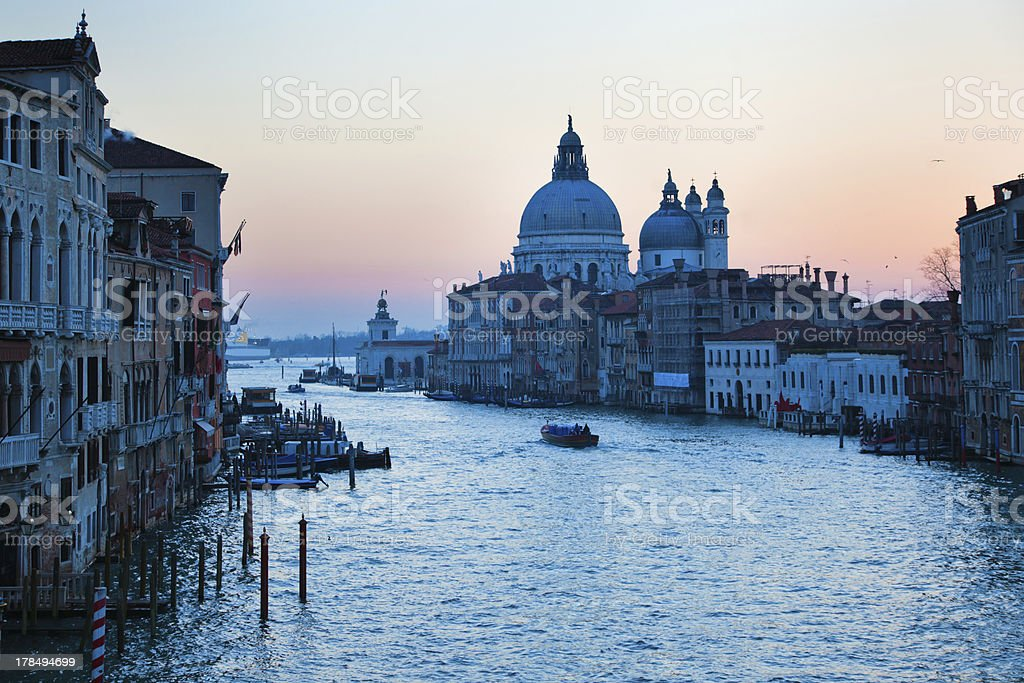 the Grand Canal in Venice at dawn royalty-free stock photo