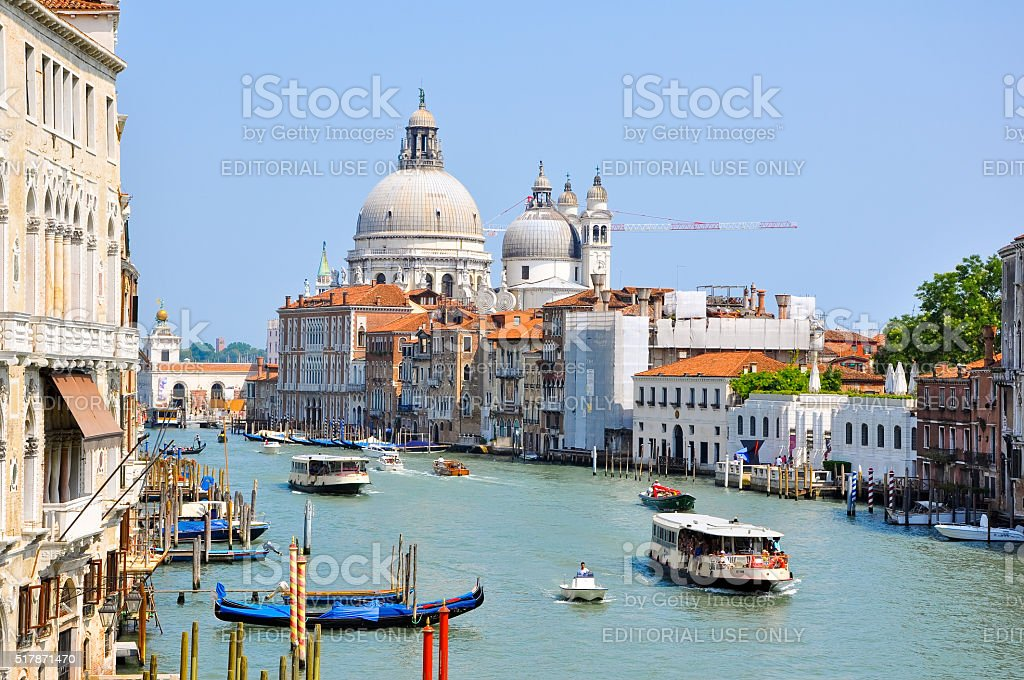 The Grand Canal in Venice in Venice. Italy. stock photo