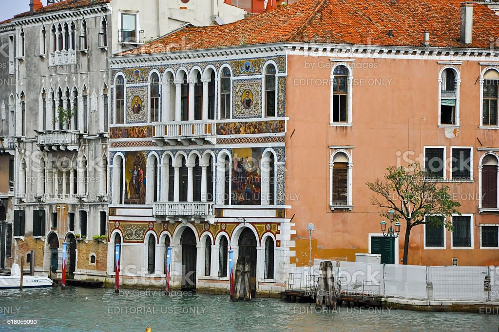 The Grand Canal in Venice in Venice. stock photo