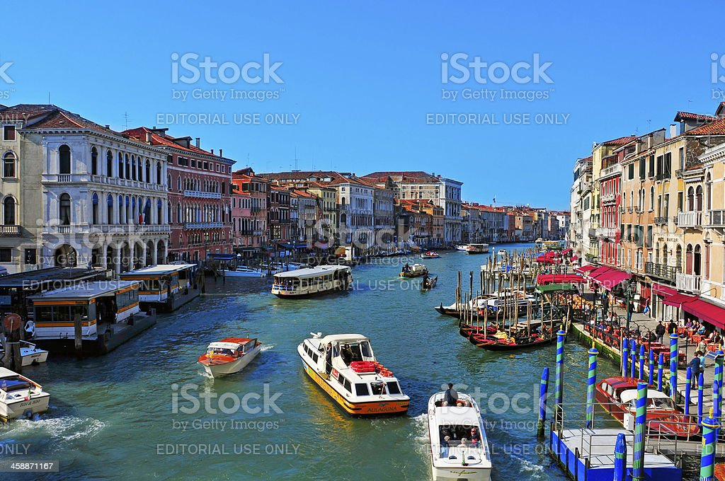 The Grand Canal in Venice, Italy royalty-free stock photo