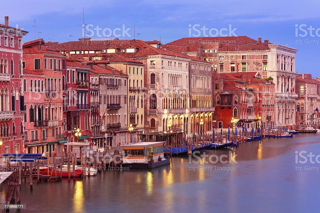 The Grand Canal of Venice at dawn royalty-free stock photo