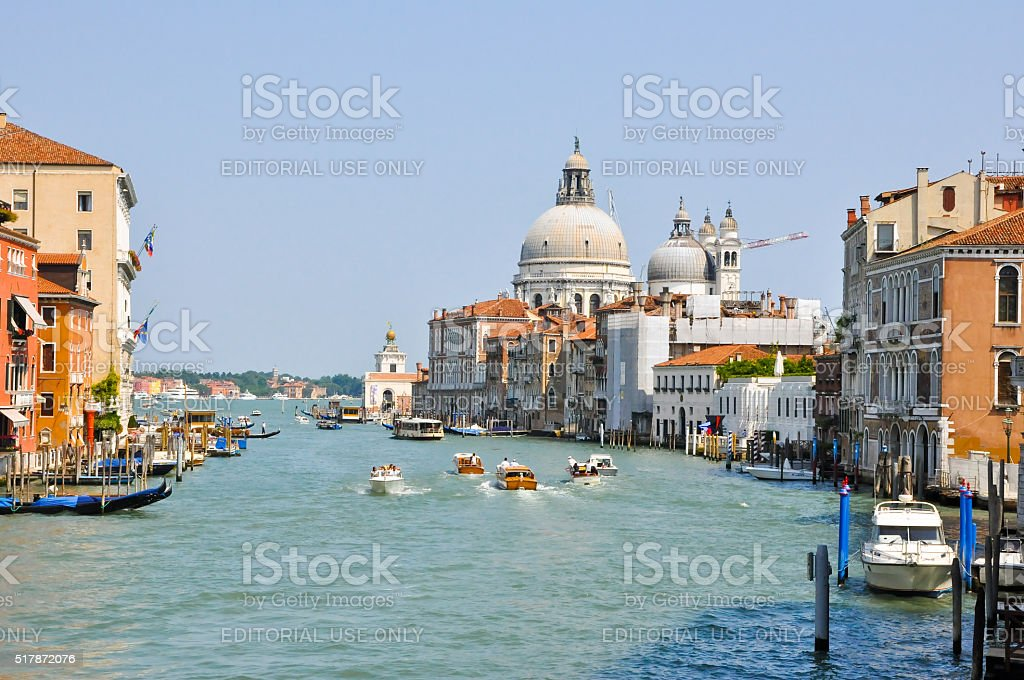 The Grand Canal on midday. Venice, Italy. stock photo