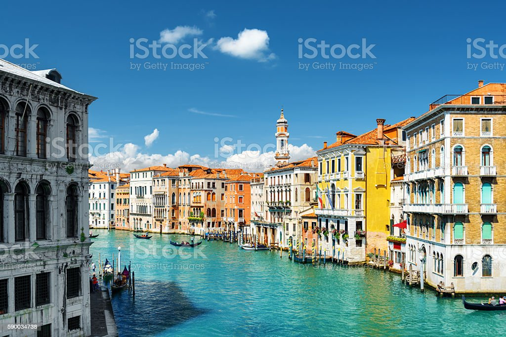 The Grand Canal. View from the Rialto Bridge in Venice stock photo