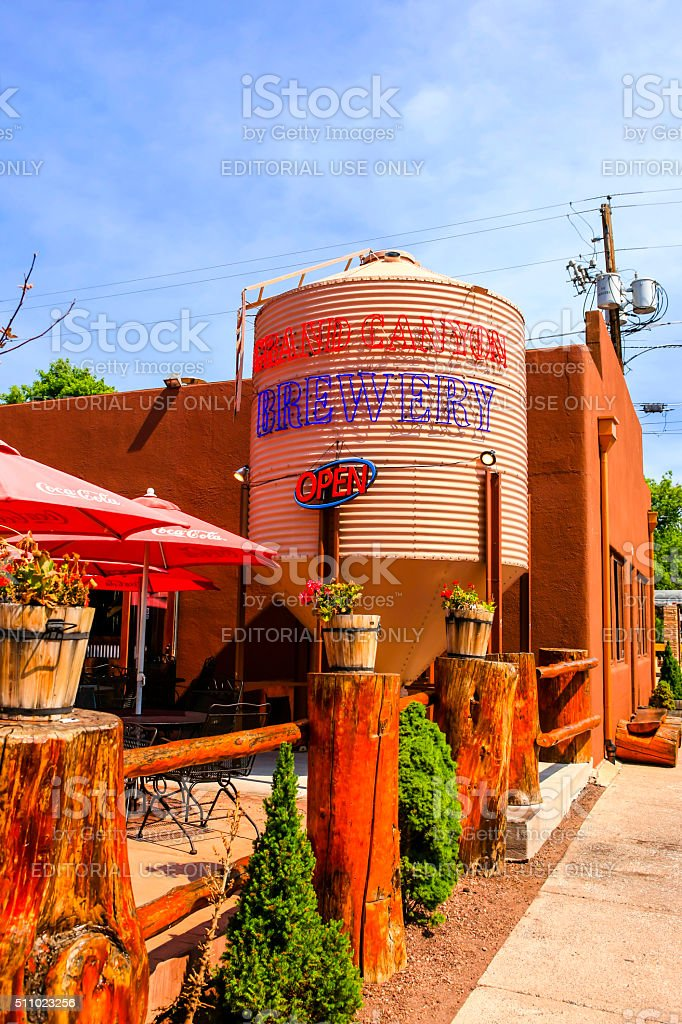 The Grand Canyon Brewery on Route 66 in Willams Arizona stock photo