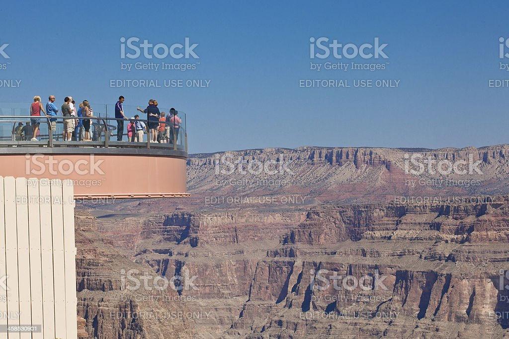 The Grand Canyon Skywalk royalty-free stock photo