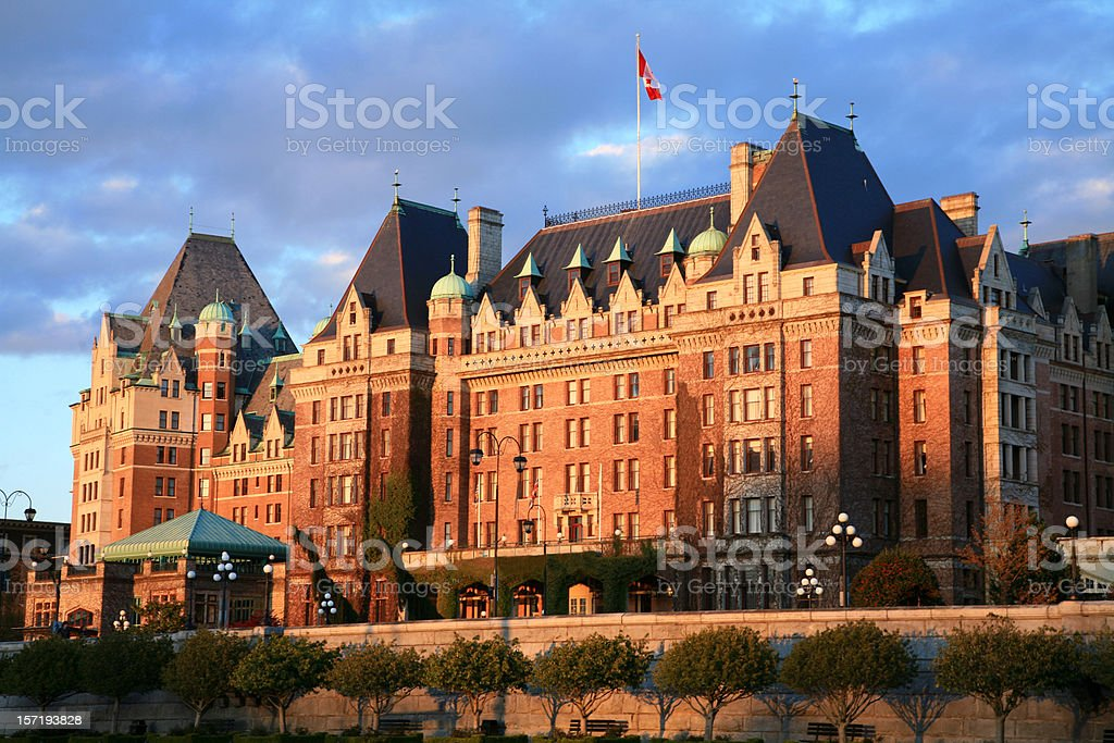 The Grand Dame Empress Hotel of Victoria British Columbia stock photo