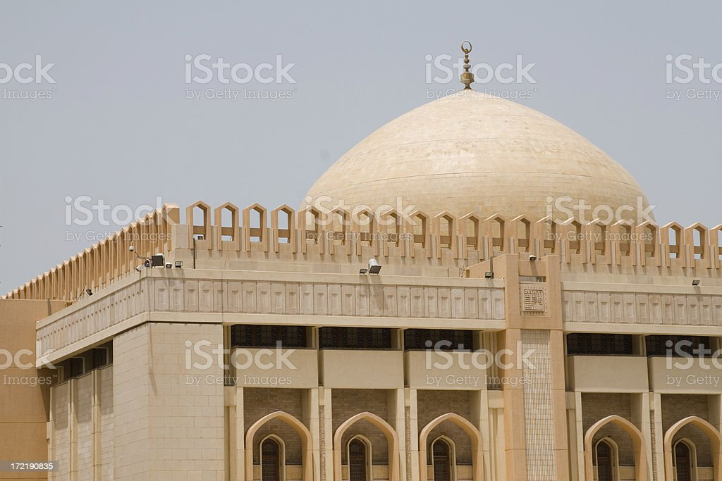 The grand mosque Kuwait royalty-free stock photo