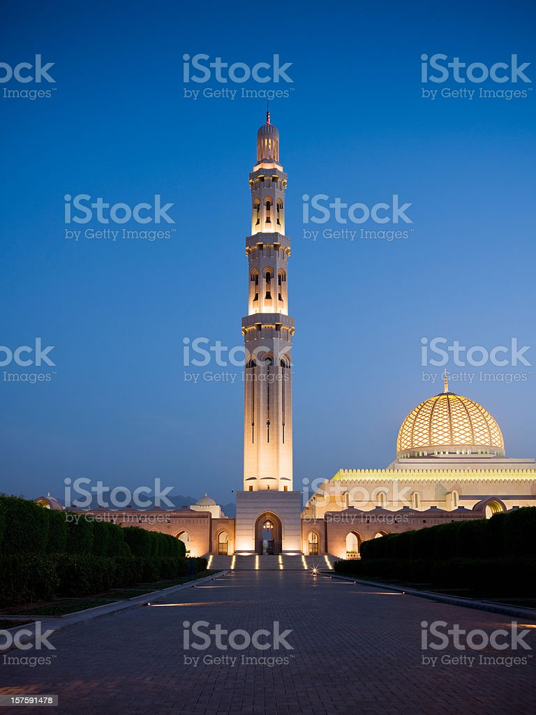 The Grand Mosque Sultan Qaboos stock photo