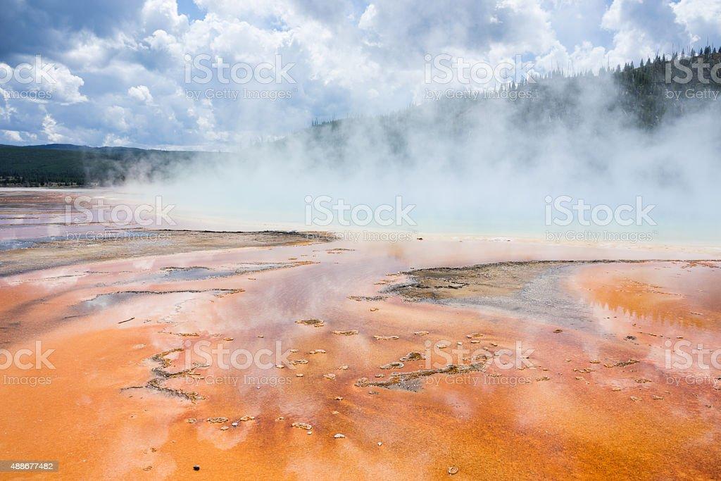 Grand Prismatic heißen Quellen im Yellowstone National Park Lizenzfreies stock-foto
