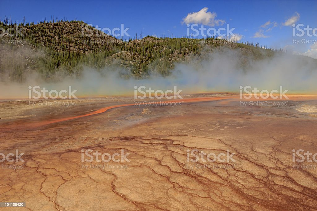 The Grand Prismatic Spring royalty-free stock photo