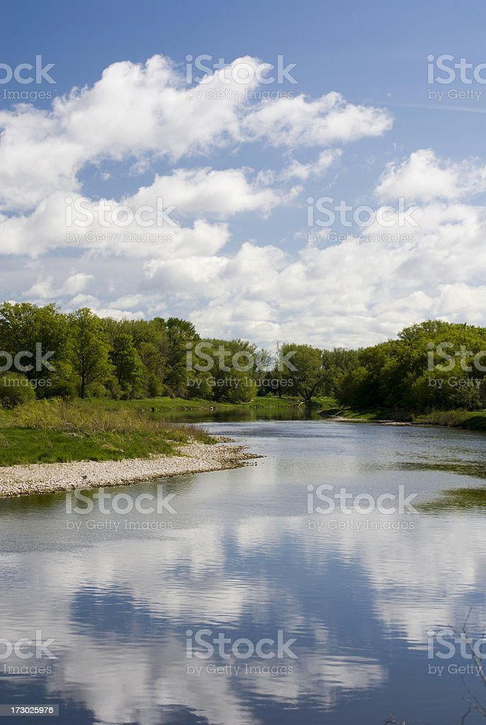 The Grand River royalty-free stock photo
