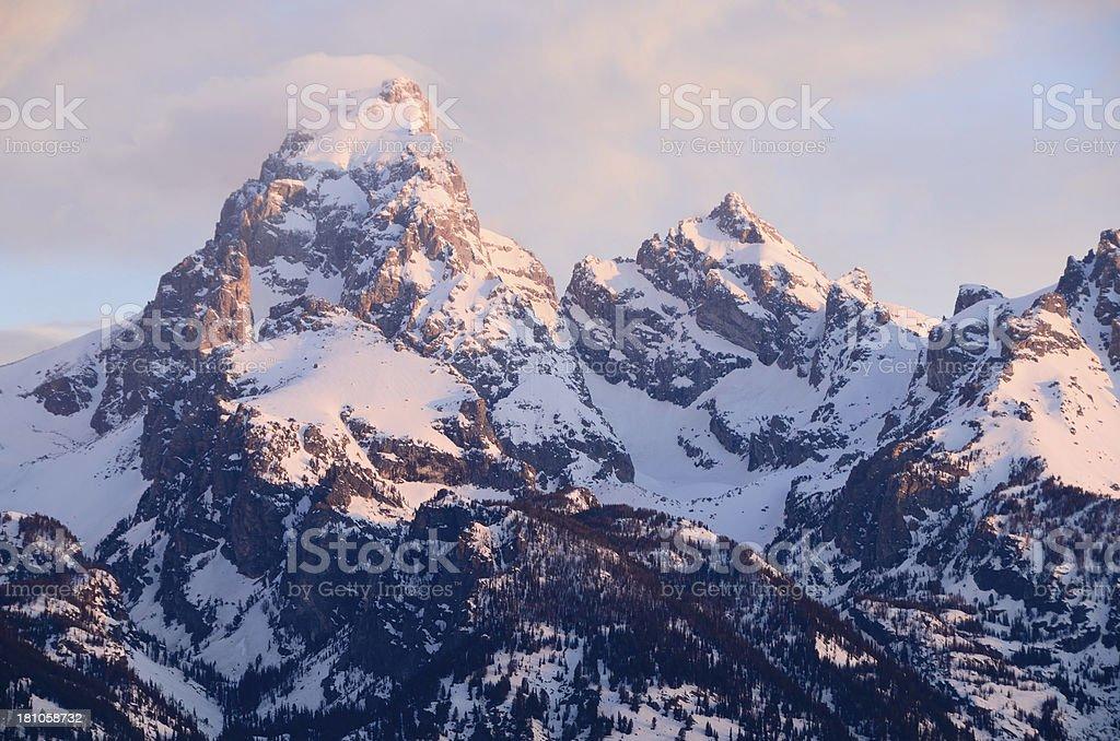 The Grand Teton Range royalty-free stock photo