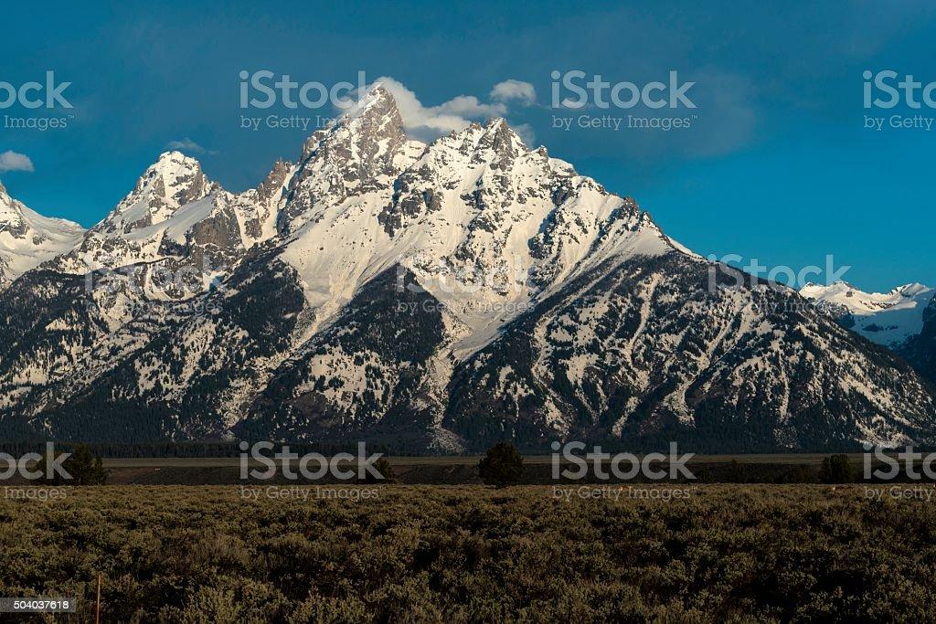 The Grand Teton Range stock photo