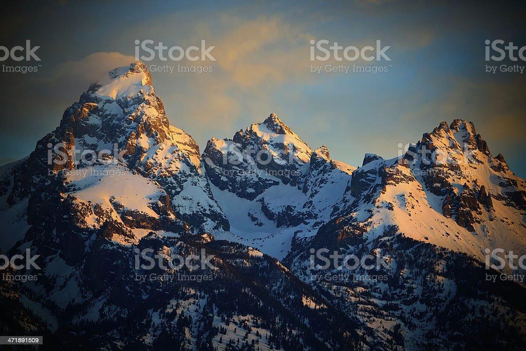 The Grand Tetons stock photo