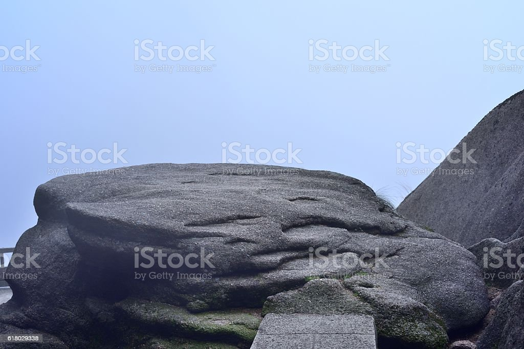 The granite of Huangshan mountains stock photo