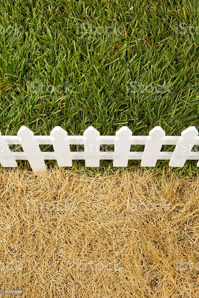 The Grass is Greener on Other Side of Fence stock photo
