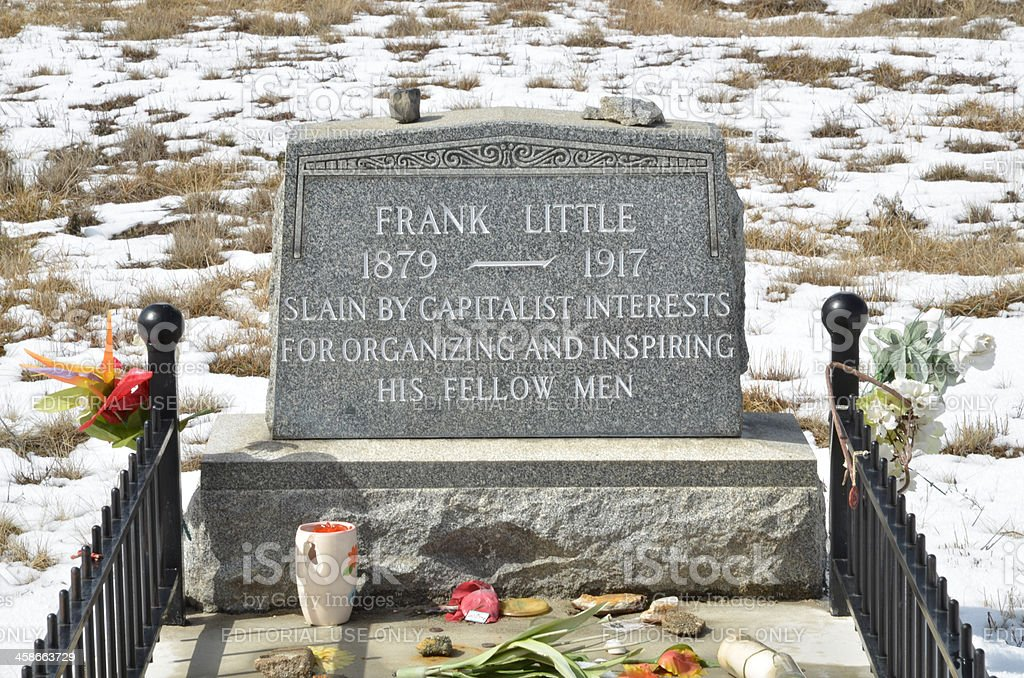 The Grave of Frank Little stock photo