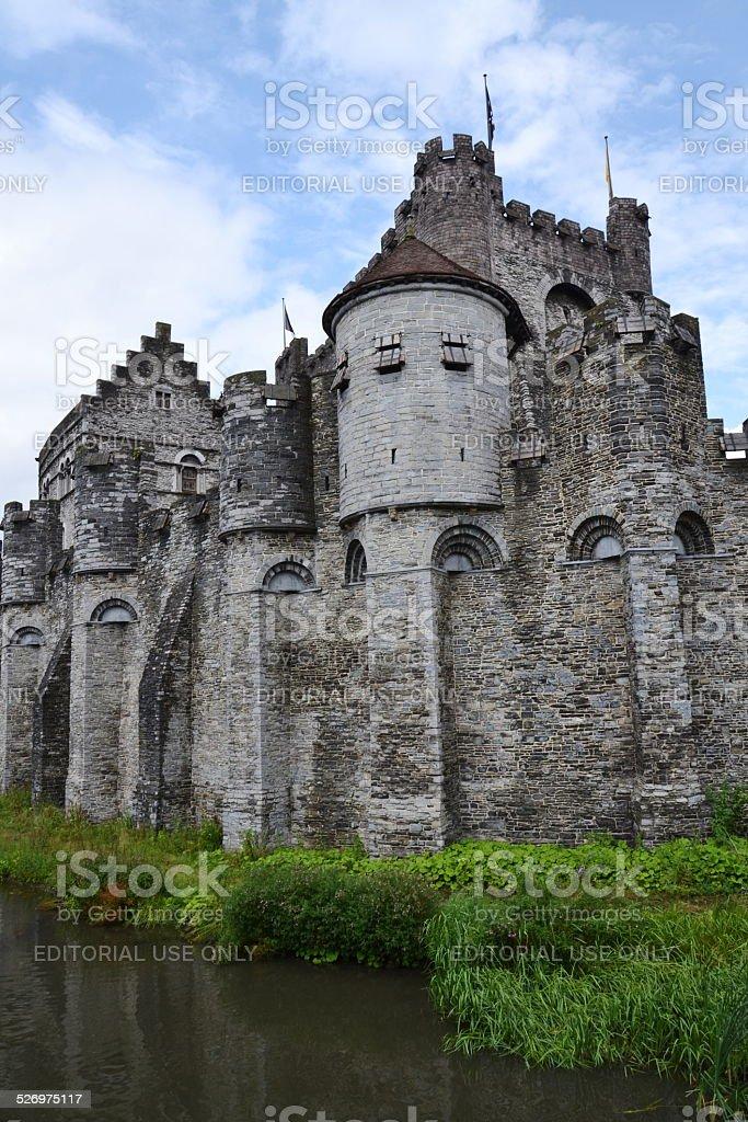 The Gravensteen Castle in Ghent, Belgium stock photo