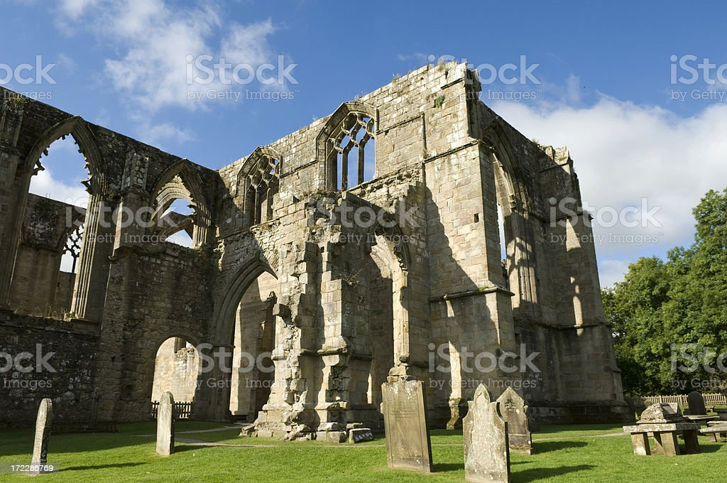 The Graveyard at Bolton Abbey Priory. stock photo
