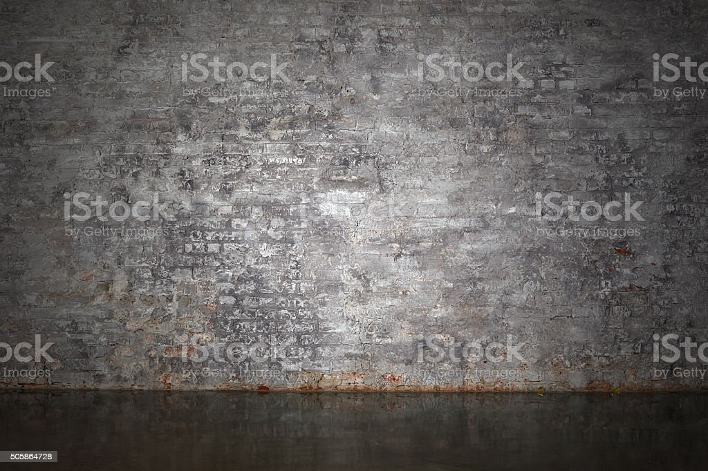 The gray brick wall stock photo