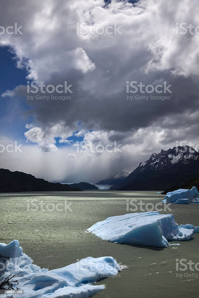 The Gray Glacier, Torres del Paine royalty-free stock photo