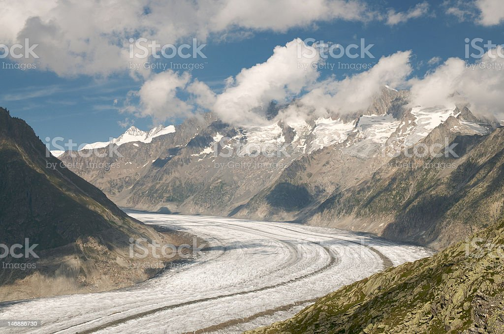 The Great Aletsch Glacier royalty-free stock photo