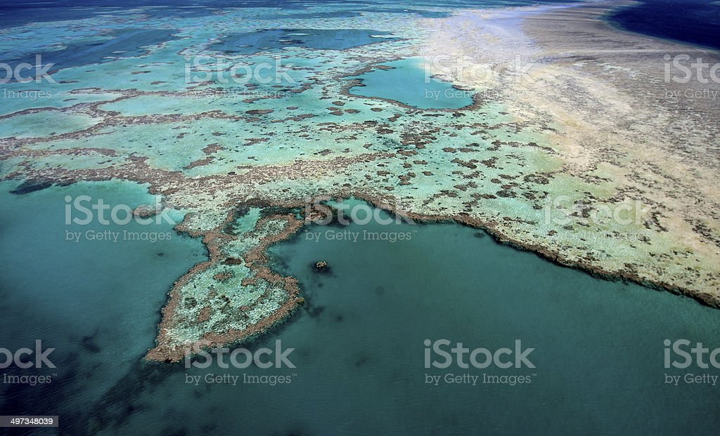 The Great Barrier Reef, Queensland, Australia royalty-free stock photo