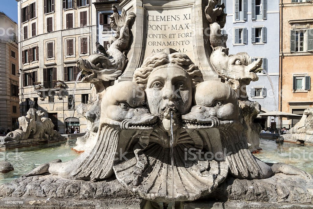 The Great Beauty-Brunnen, Pantheon-Rome Lizenzfreies stock-foto