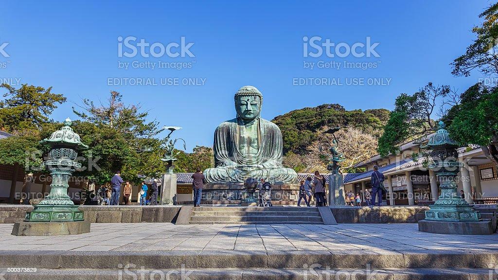 The Great Buddha at Kotokuin Temple in Kamakura stock photo