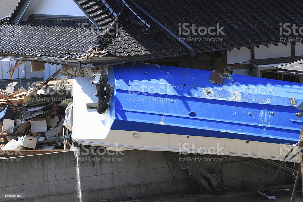 The Great East Japan Earthquake stock photo
