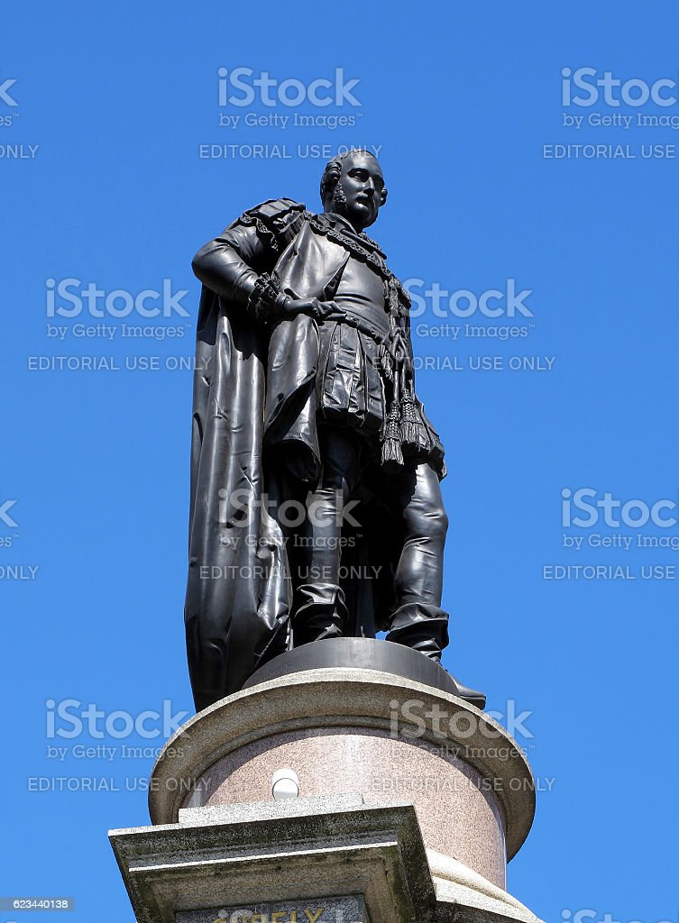 The Great Exhibition Memorial statue of  Prince Albert stock photo