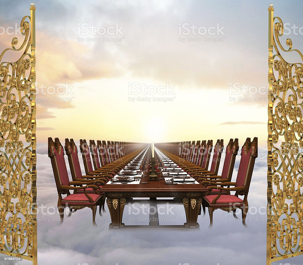 The Great Feast royalty-free stock photo