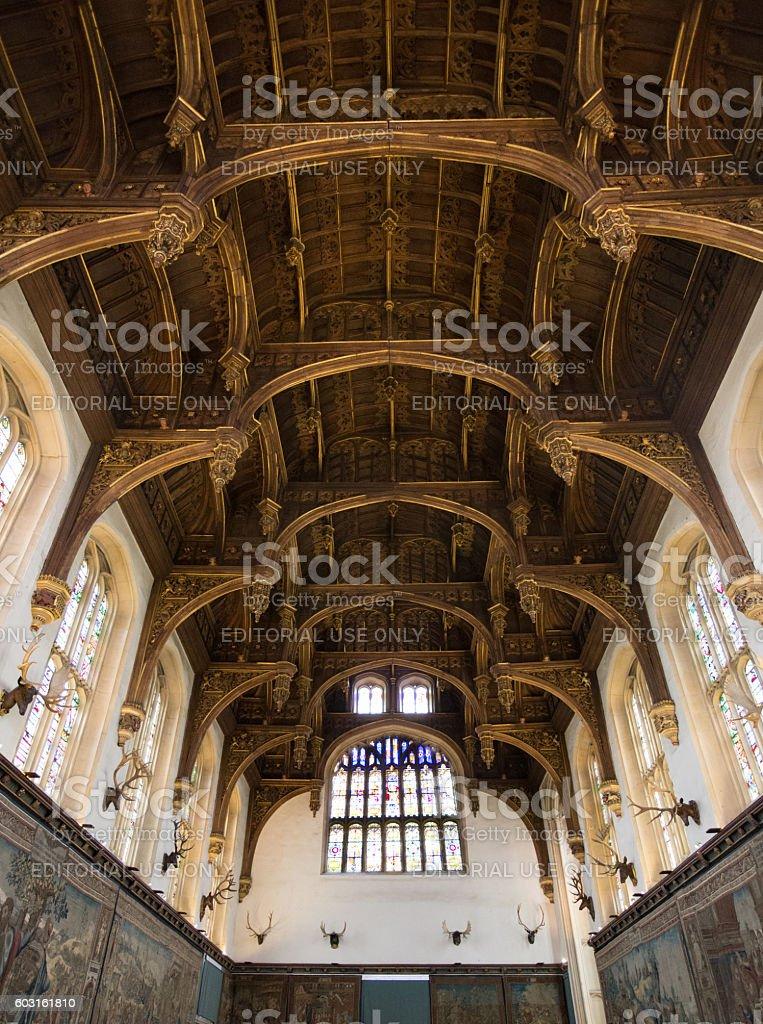 The Great Hall at Hampton Court Palace stock photo