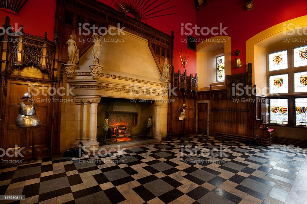 The Great Hall of Edinburgh Castle stock photo