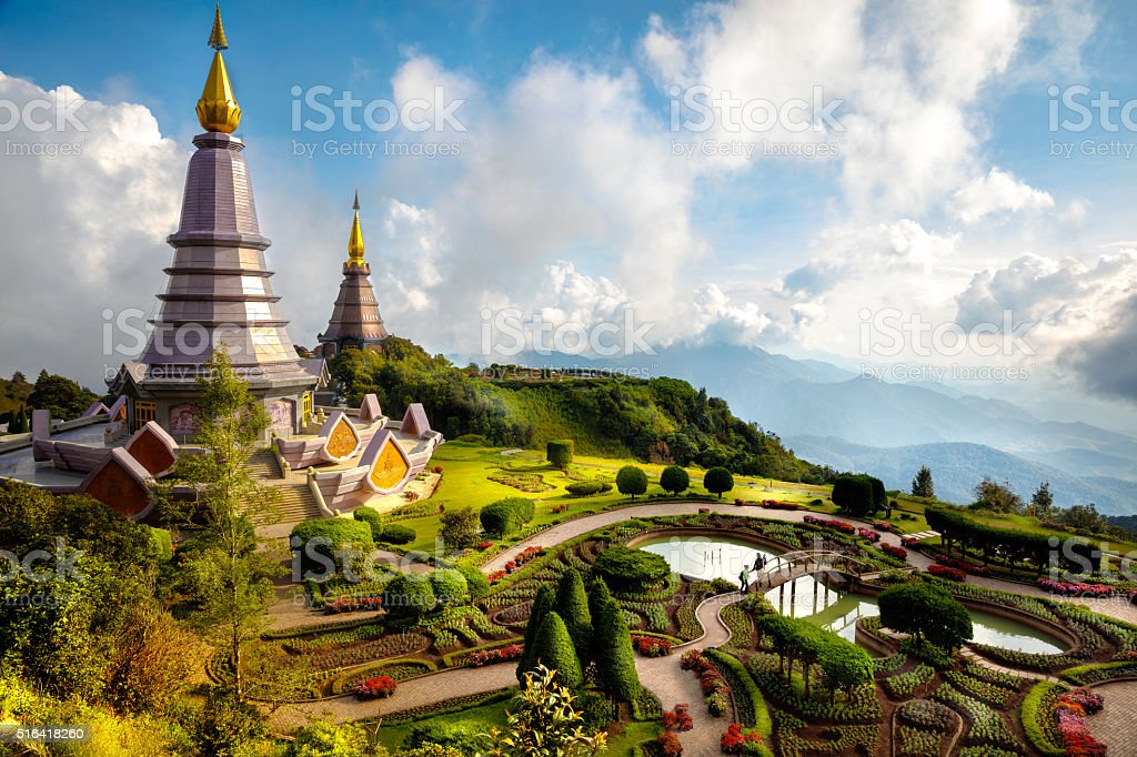 The Great Holy Relics Pagoda Nabhapolbhumisiri stock photo