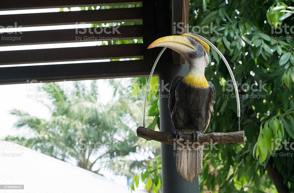 Die Doppelhornvogel ist Symbol der vielen Wild. Lizenzfreies stock-foto