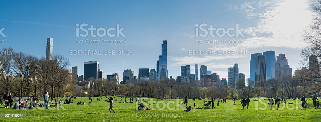 The Great Lawn, Central Park, New York stock photo