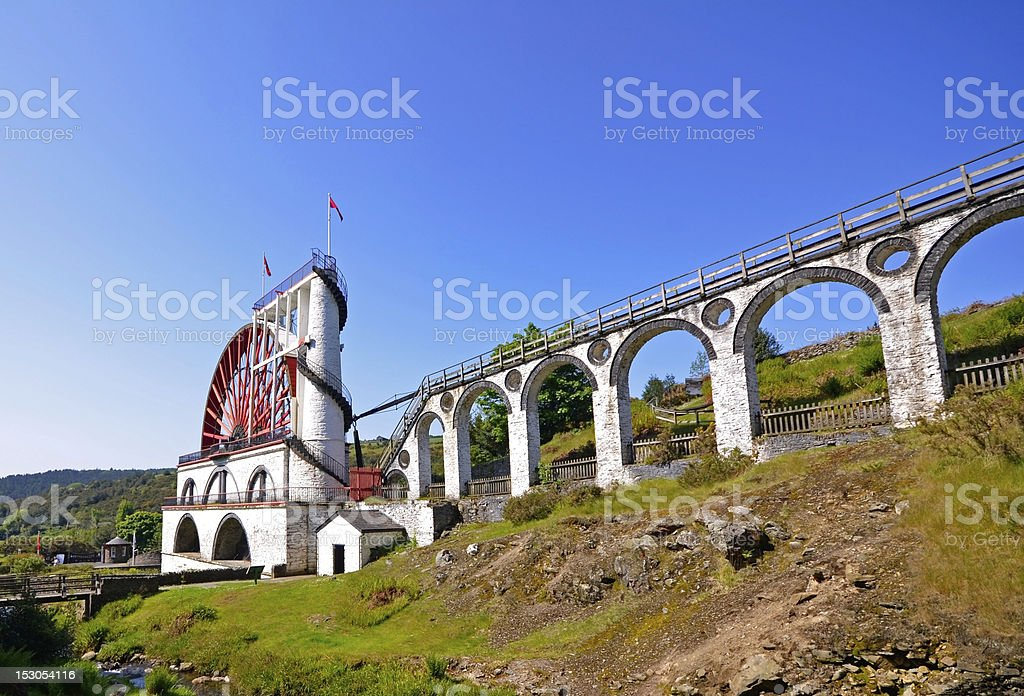 The Great Laxey Wheel - Isle of Man stock photo