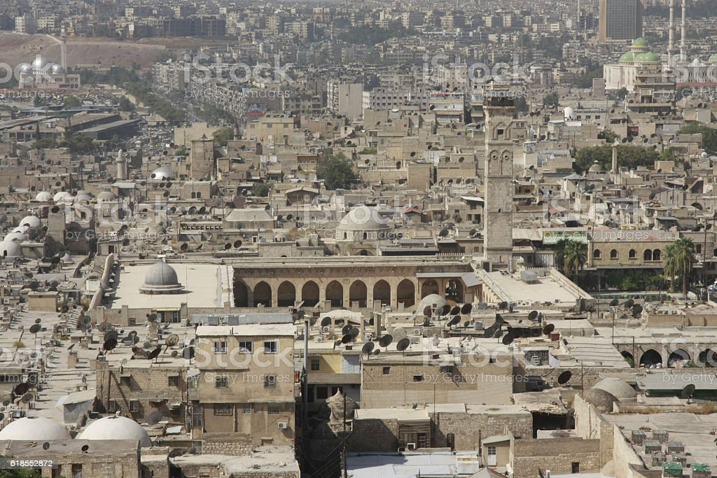 The Great Mosque in Aleppo, Syria stock photo