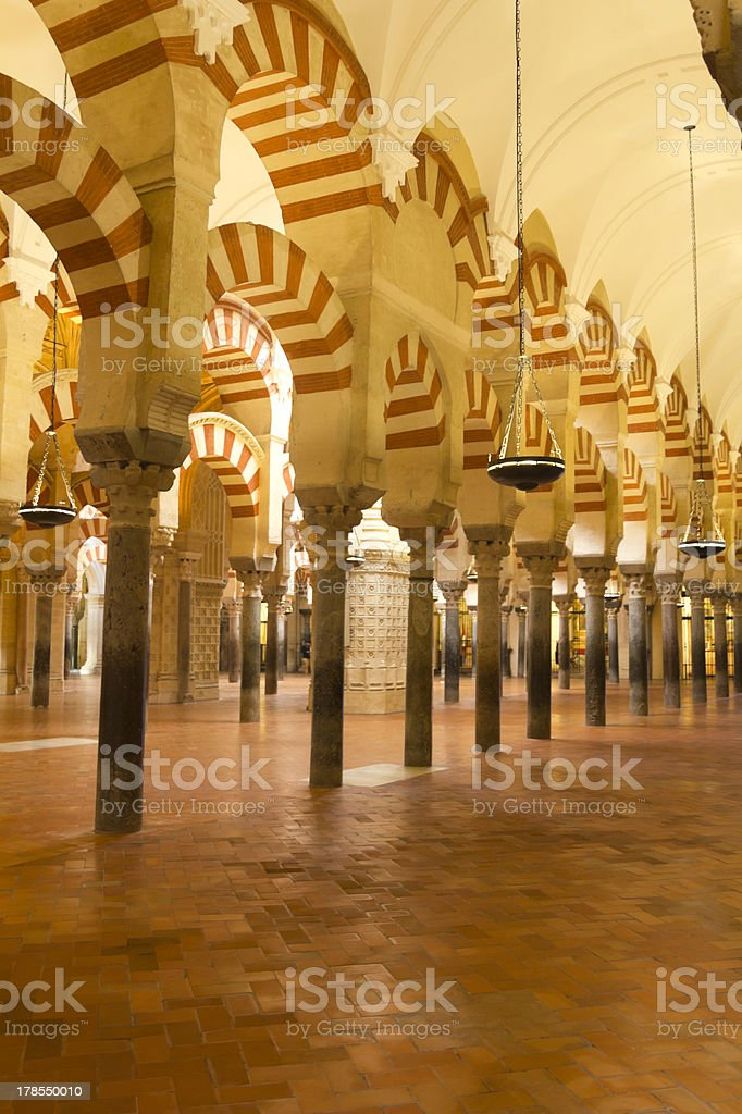 The Great Mosque in Cordoba, Spain royalty-free stock photo