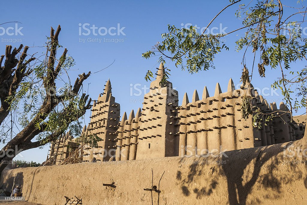 The Great Mosque of Djenné, Mali, Africa. stock photo