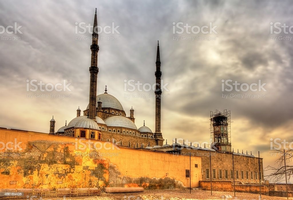 The great Mosque of Muhammad Ali Pasha in Cairo stock photo