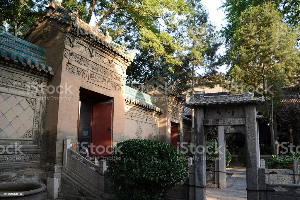 The Great Mosque of Xi'an, Shaanxi, China stock photo