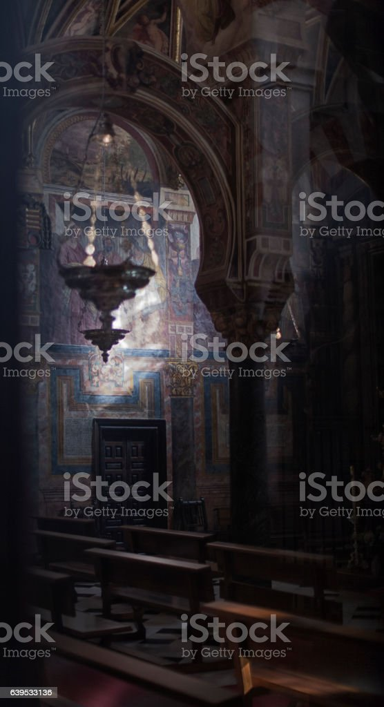 The Great Mosque or Mezquita famous interior in Cordoba, Spain stock photo